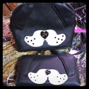 New with tags Betsey johnson dog purse and wallet